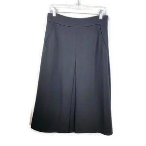Ann Taylor A Line Full Skirt Black Sz 6